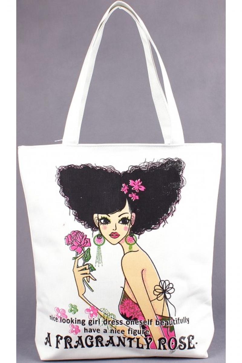Текстильная сумка для пляжа