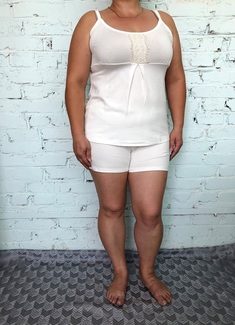 5602 Комплект (пижама) 46-54 молоко