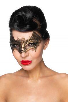 """Золотистая карнавальная маска """"Сириус"""""""