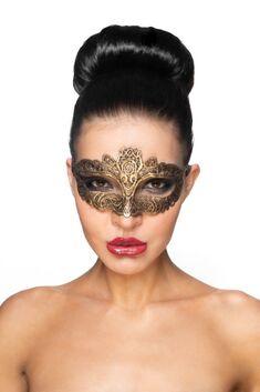 """Золотистая карнавальная маска """"Саиф"""""""