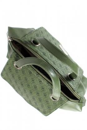 Женская сумка оливковая + тиснение