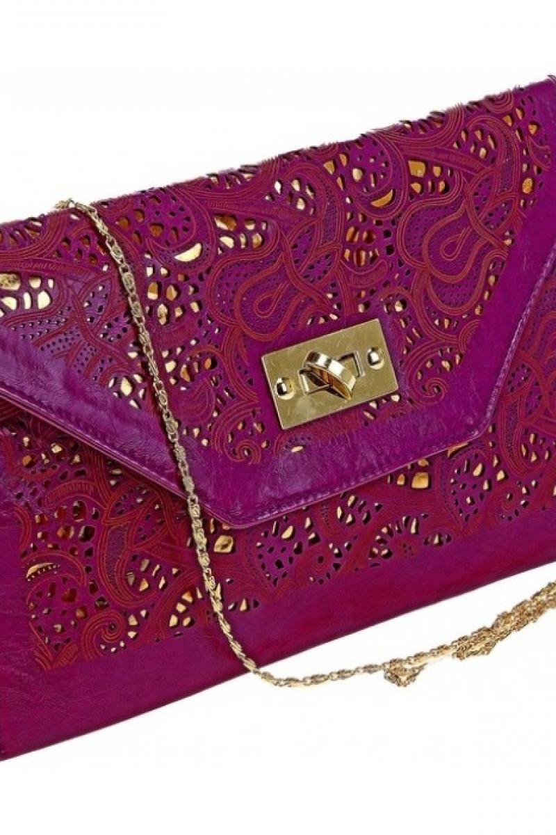 Клатч женский фиолетовый
