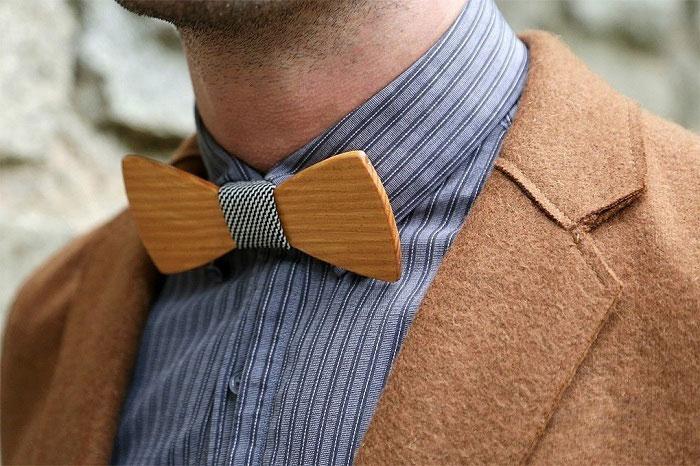 Бабочка-галстук из дерева своими руками 74